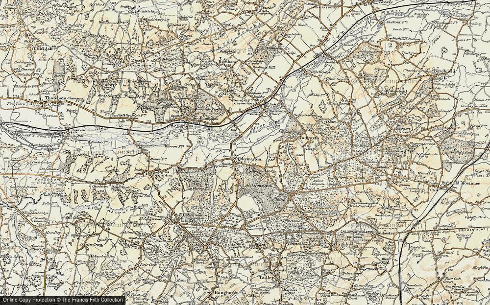 Old Map of Aldermaston, 1897-1900 in 1897-1900