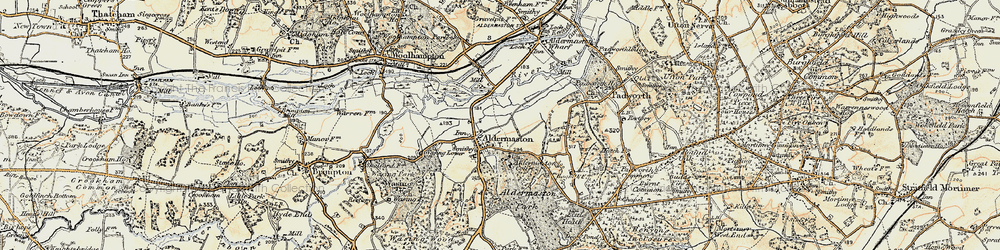 Old map of Aldermaston in 1897-1900