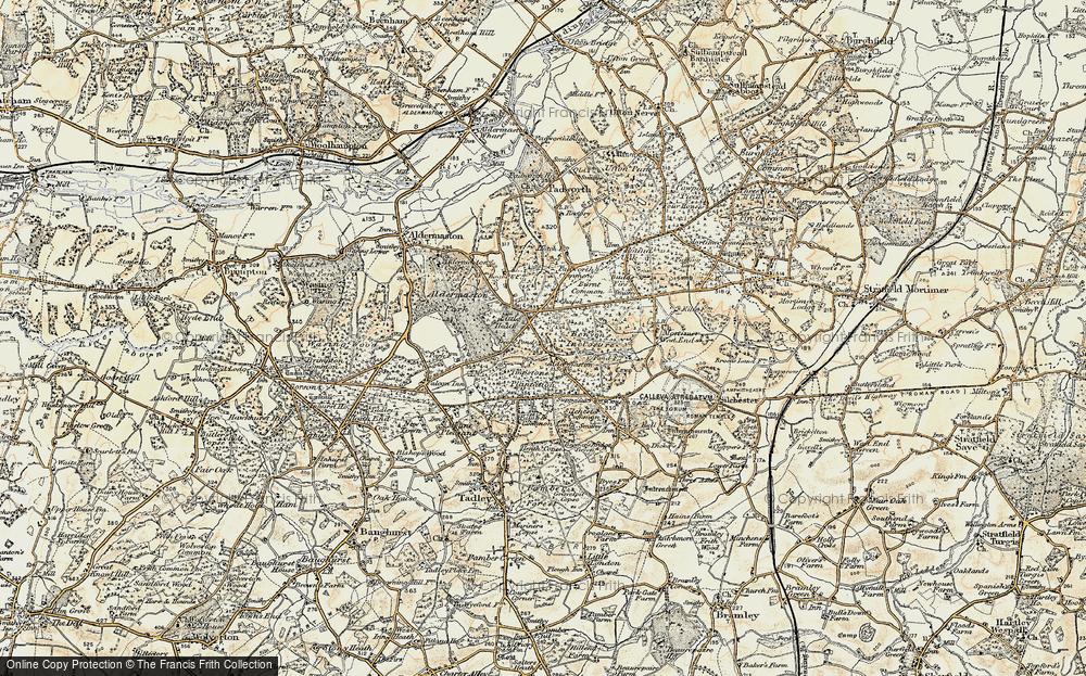 Old Map of Aldermaston Soke, 1897-1900 in 1897-1900