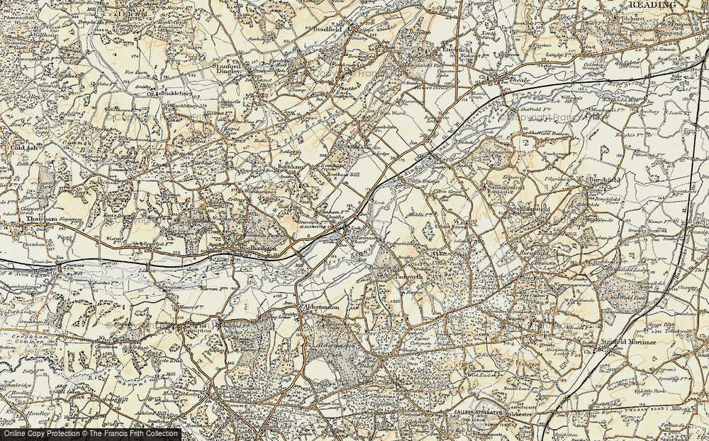 Old Map of Aldermaston Wharf, 1897-1900 in 1897-1900