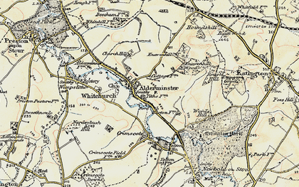 Old map of Alderminster in 1899-1901