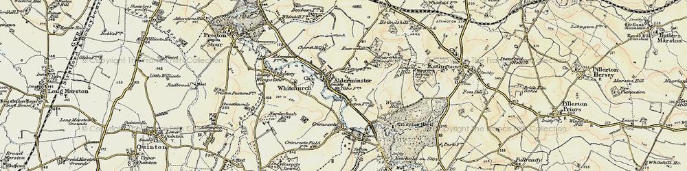 Old map of Alderminster in 1899-1901