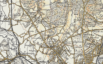 Old map of Aldermoor in 1897-1909