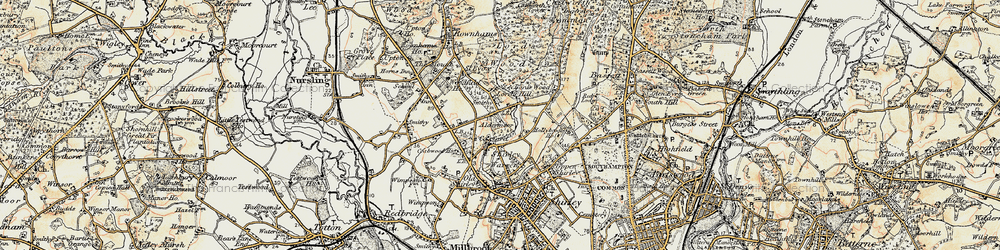 Old map of Aldermoor in 1897-1909