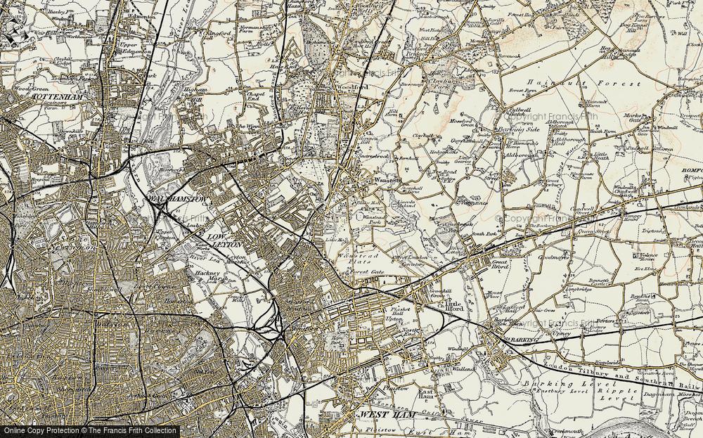 Old Map of Aldersbrook, 1897-1898 in 1897-1898