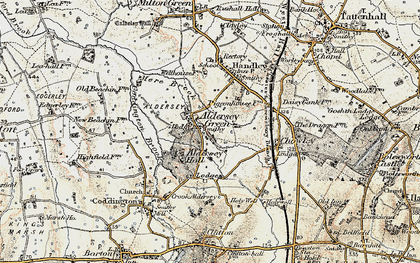 Old map of Aldersey Green in 1902-1903