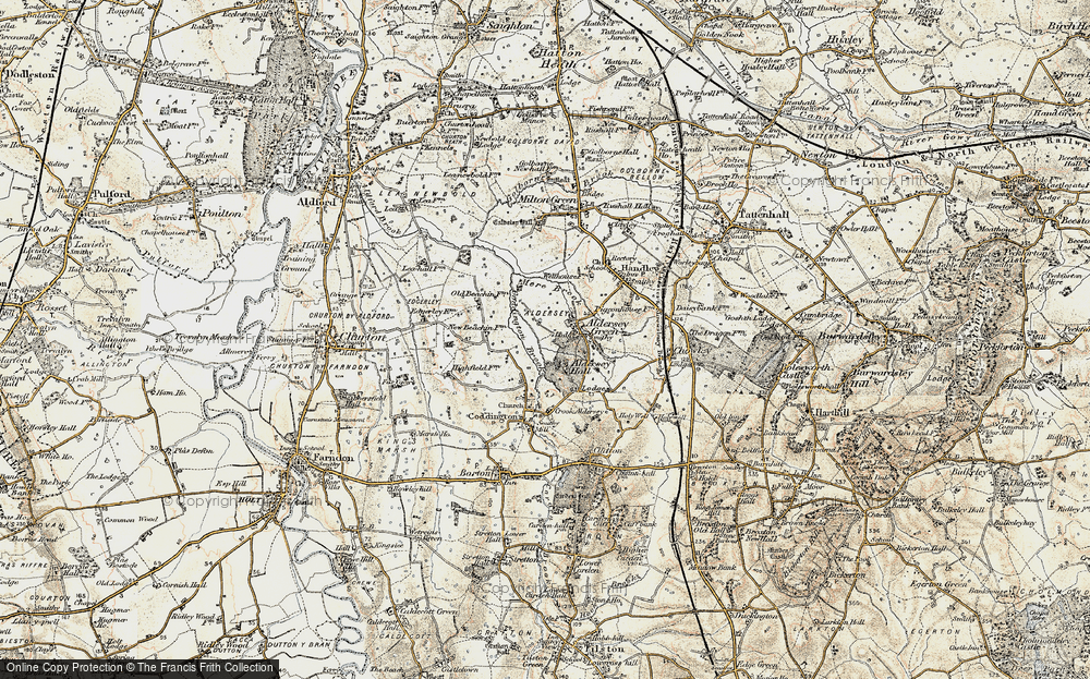 Old Map of Aldersey Park, 1902-1903 in 1902-1903