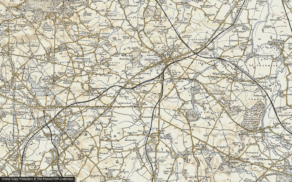 Old Map of Aldershawe, 1902 in 1902