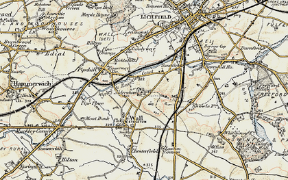 Old map of Aldershawe in 1902