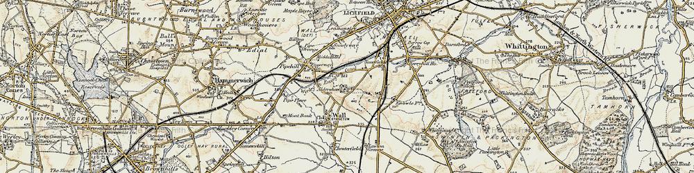 Old map of Aldershawe in 1902