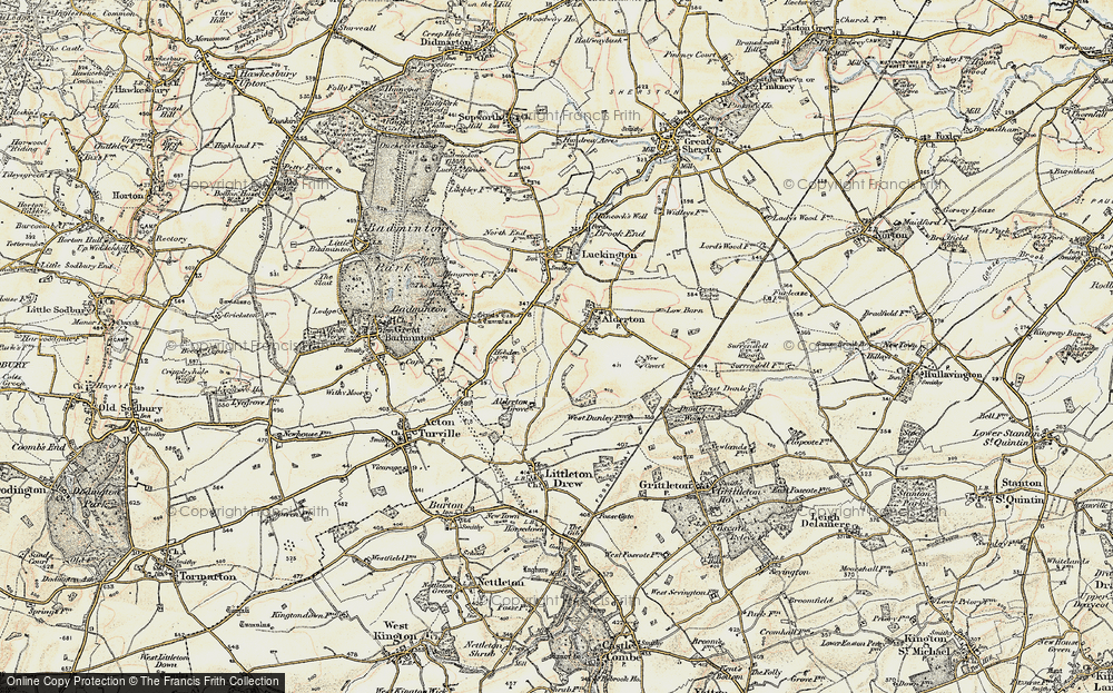 Old Map of Alderton, 1898-1899 in 1898-1899