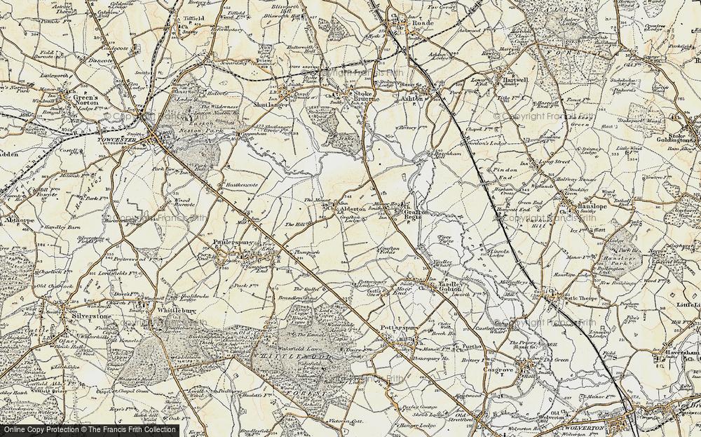 Old Map of Alderton, 1898-1901 in 1898-1901
