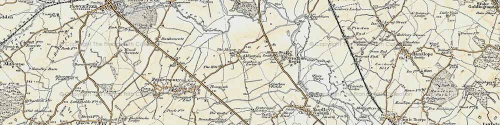 Old map of Alderton in 1898-1901