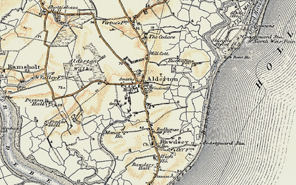 Old map of Alderton in 1898-1901