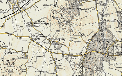 Old map of Alderton in 1899-1900