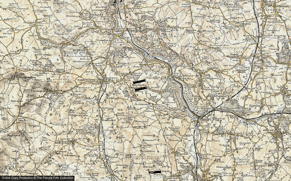 Old Map of Alderwasley, 1902 in 1902