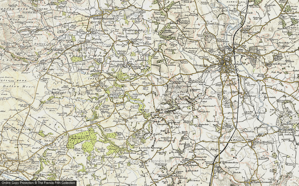 Old Map of Aldfield, 1903-1904 in 1903-1904