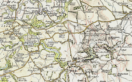 Old map of Aldfield in 1903-1904