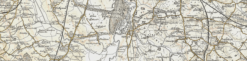 Old map of Aldford in 1902-1903