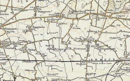 Old map of Aldingbourne in 1897-1899