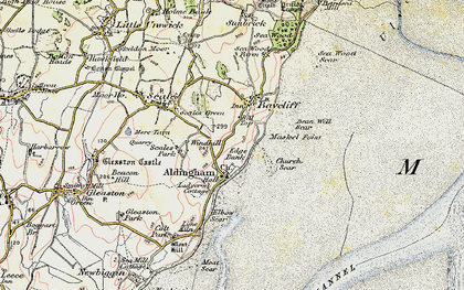 Old map of Aldingham in 1903-1904