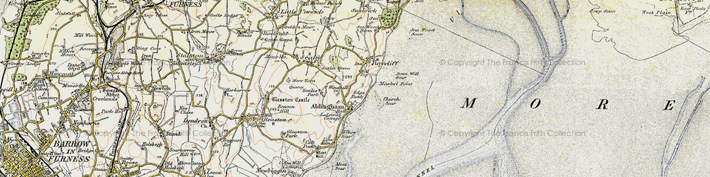 Old map of Aldingham in 1903-1904