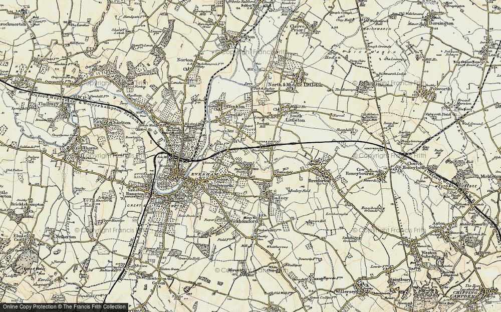 Old Map of Aldington, 1899-1901 in 1899-1901