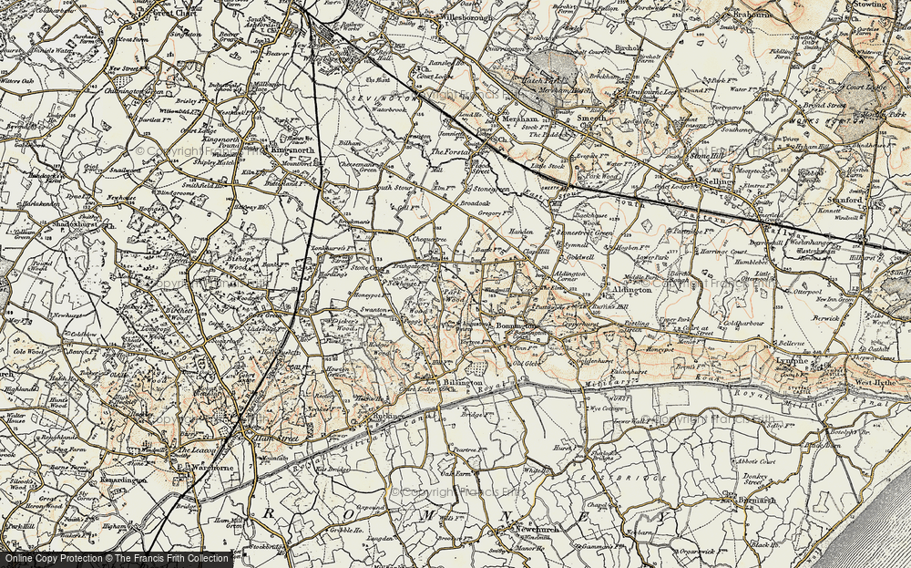 Old Map of Aldington Frith, 1897-1898 in 1897-1898