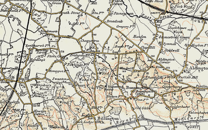 Old map of Aldington Frith in 1897-1898