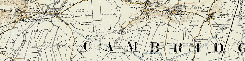 Old map of Adventurers' Fen in 1901