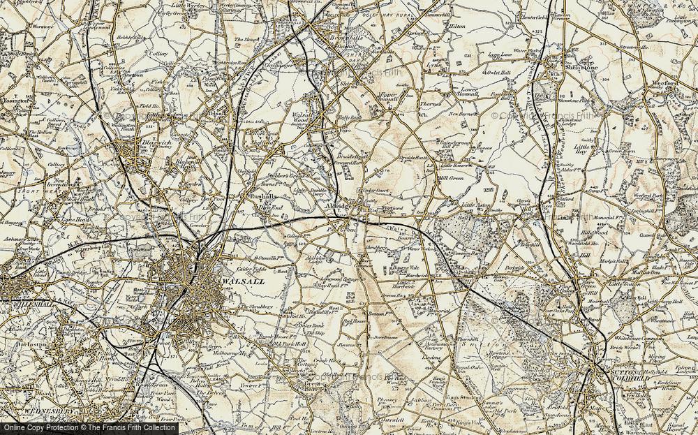 Old Map of Aldridge, 1902 in 1902
