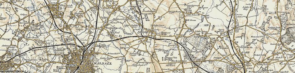 Old map of Aldridge in 1902