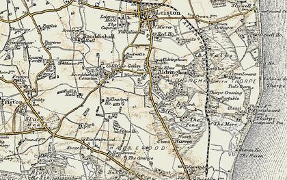 Old map of Aldringham in 1898-1901