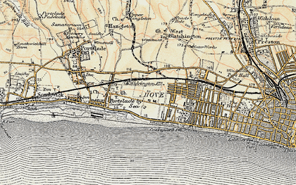 Old map of Aldrington in 1898