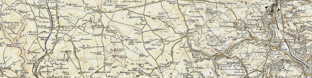 Old map of Aldwark in 1902-1903