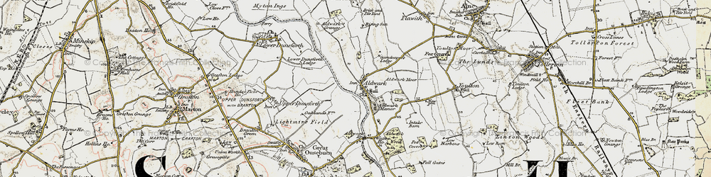 Old map of Aldwark Wood in 1903-1904