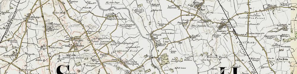 Old map of Aldwark Moor in 1903-1904