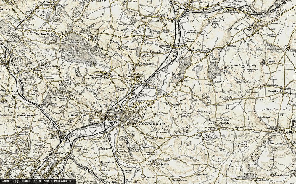 Old Map of Aldwarke, 1903 in 1903