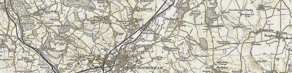 Old map of Aldwarke in 1903