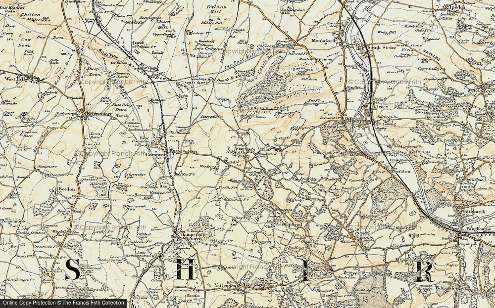 Old Map of Aldworth, 1897-1900 in 1897-1900