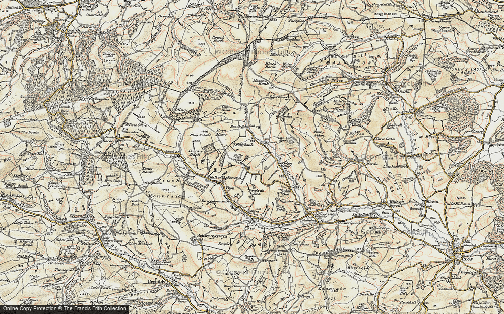 Old Map of Ale Oak, 1901-1903 in 1901-1903