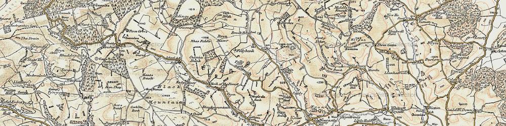Old map of Ale Oak in 1901-1903