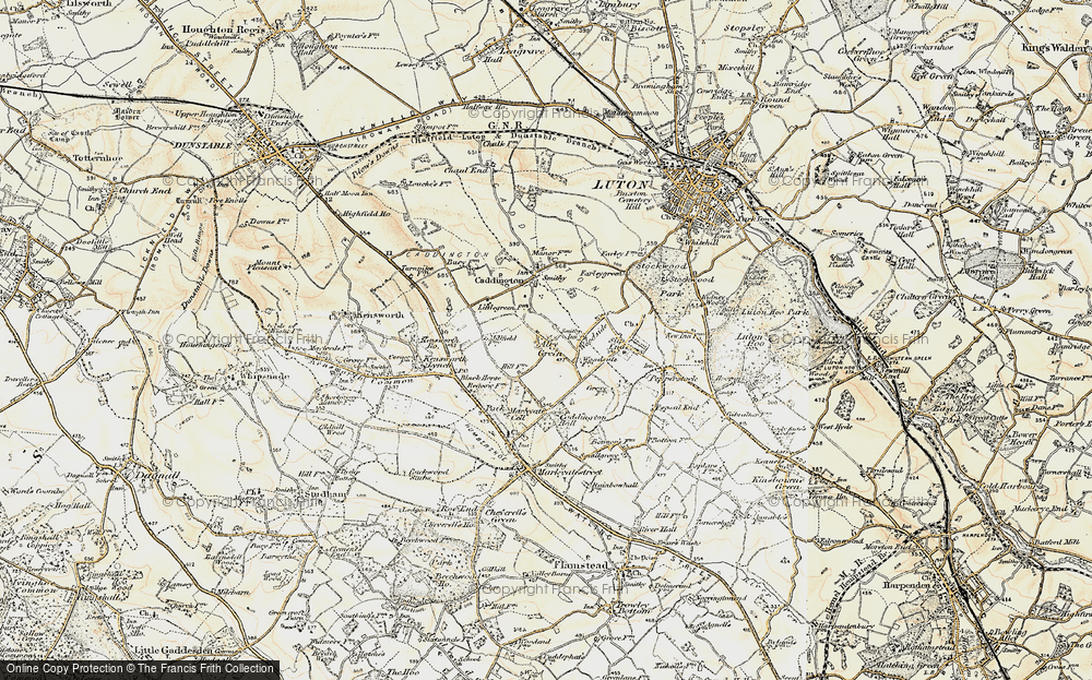 Old Map of Aley Green, 1898-1899 in 1898-1899