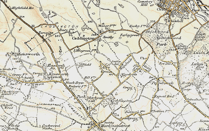 Old map of Aley Green in 1898-1899