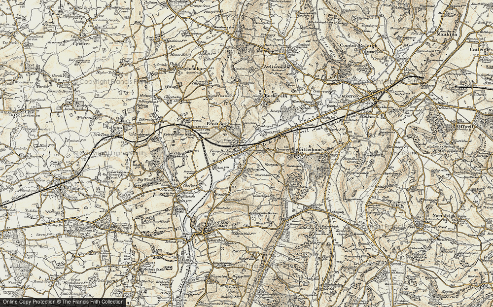 Old Map of Alfington, 1898-1900 in 1898-1900