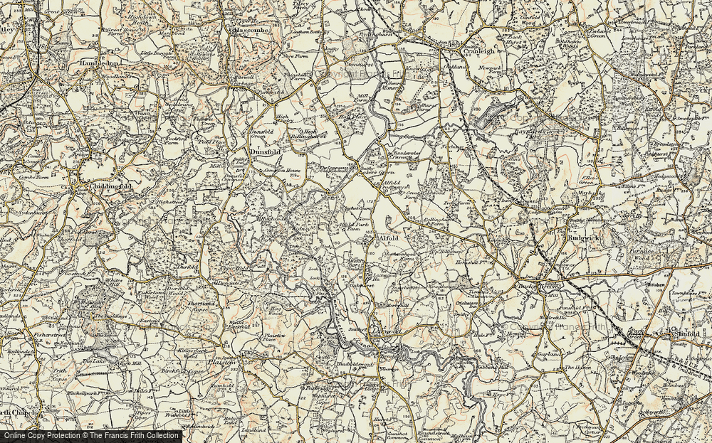 Old Map of Alfold, 1897-1909 in 1897-1909