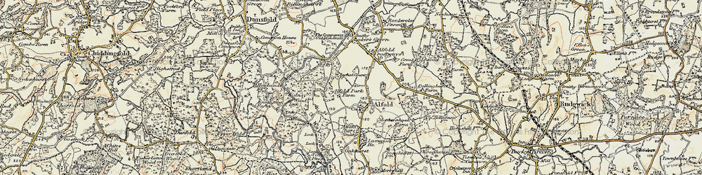 Old map of Alfold in 1897-1909