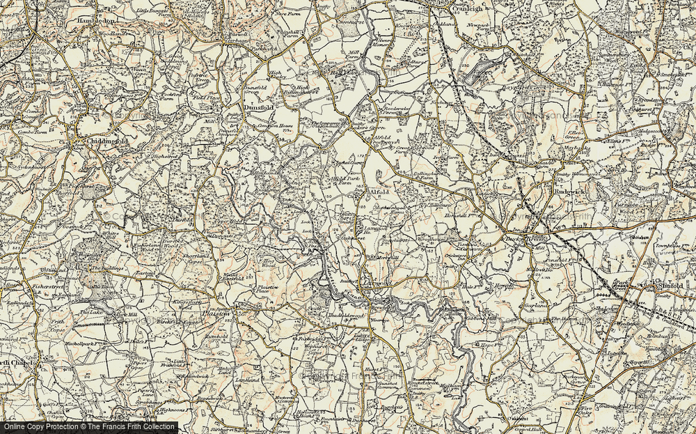 Old Map of Alfold Bars, 1897-1900 in 1897-1900