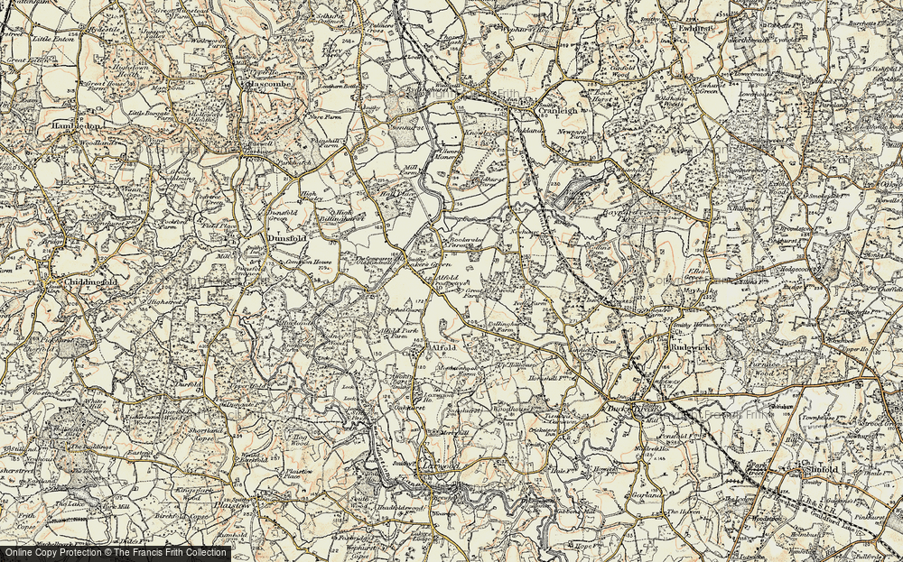 Old Map of Alfold Crossways, 1897-1909 in 1897-1909
