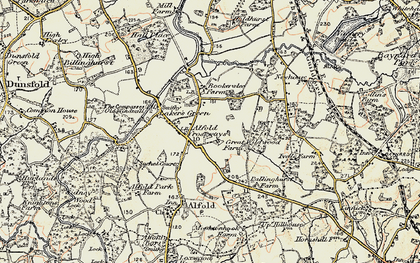 Old map of Alfold Crossways in 1897-1909